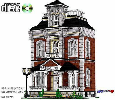 CD Hilltop Manor Victorian House Lego Custom PDF Book Instructions cafe #3