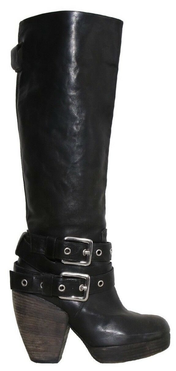 PHI Black Leather Boots (SIZE 36)