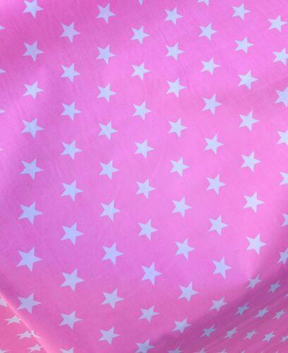 De grandes stars-polyester-coton tissu rouge bleu noir rose orange citron coupé le rouleau