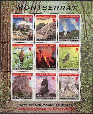 Privatverkauf Kein Produkte Werden Ohne EinschräNkungen Verkauft 10534 VÖgel * * Kleinbogen Montserrat 1008-1016 Vulkane