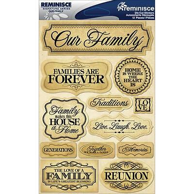 REMINISCE FAMILY ANCESTRY HERITAGE GENERATIONS DIMENSIONAL 3D SCRAPBOOK STICKERS