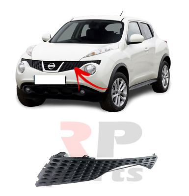 NISSAN JUKE 2010-2014 FRONT GRILLE UPPER CENTRE WITH CHROME NEW OE 62072-1KA6A
