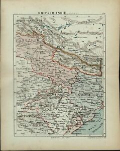 British-India-North-Nepal-Bengal-Tibet-1882-charming-small-Dutch-old-map