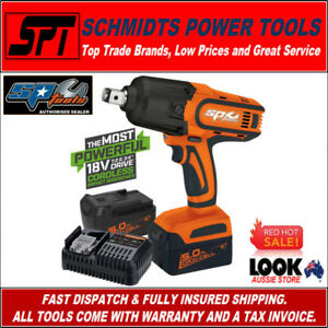 SP-TOOLS-SP81140-18V-3-4-034-DRIVE-CORDLESS-IMPACT-WRENCH-KIT-2x-5-0Ah-BATTERIES