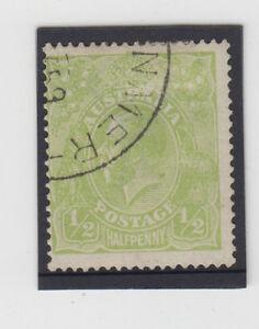 Scarce stamp 1/2d cyprus green KGV single watermark used