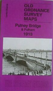 OLD-ORDNANCE-SURVEY-DETAILED-MAPS-PUTNEY-BRIDGE-amp-FULHAM-LONDON-1913-Godfrey-Edt