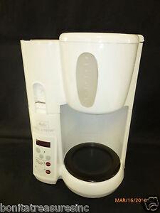 Java Perk Coffee Maker : White Melitta MEMB1 Mill & Brew Coffee Brewer Maker Parts Or Repair As Is eBay