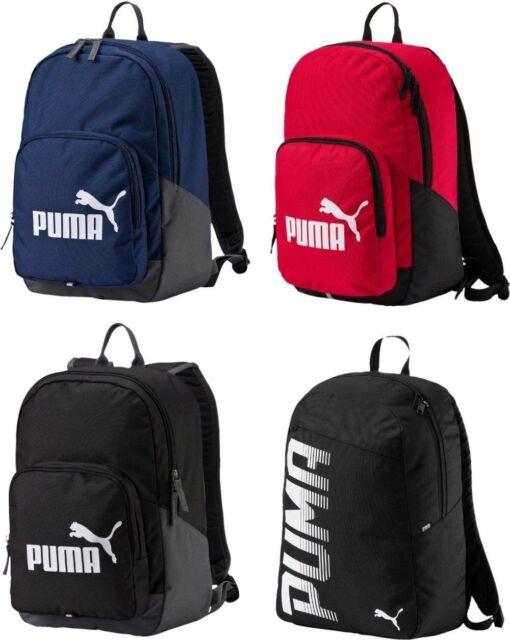 e8ed87fb14ff Puma Phase Pioneer Backpack Rucksack Bag School Gym Sport Training Travel  Black