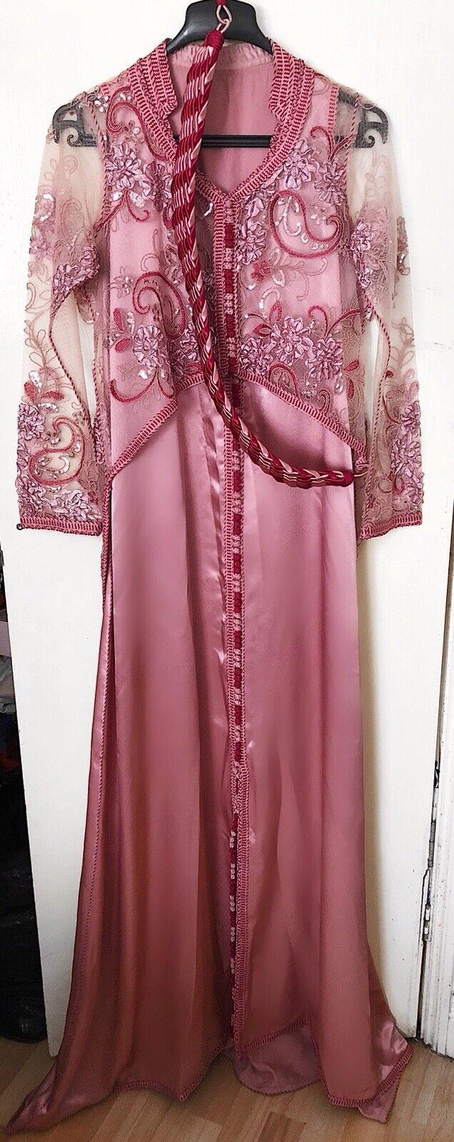 Beautiful Pink Two Pieces Kaftan Size S M