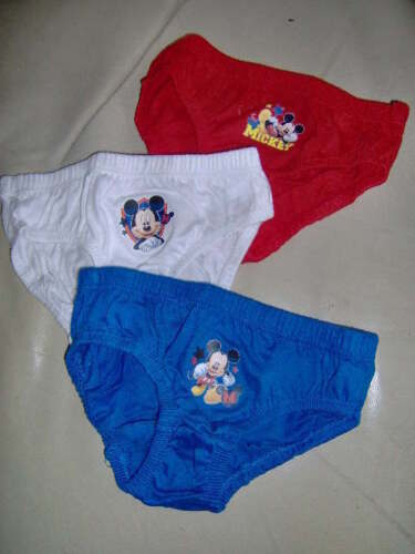 3 PAIRS MICKEY MOUSE BRIEFS or 2 VESTS AGES 18-24M  2-3  3-4  4-5 YEARS