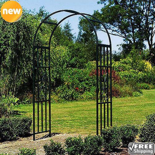 Gothic Garden Arch Metal Yard Archway Wedding Decor Trellis Arbor Vertical Plant