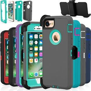 Shockproof-Hard-Case-Cover-For-Apple-iPhone-7-8-Plus-Fits-Otterbox-Belt-Clip