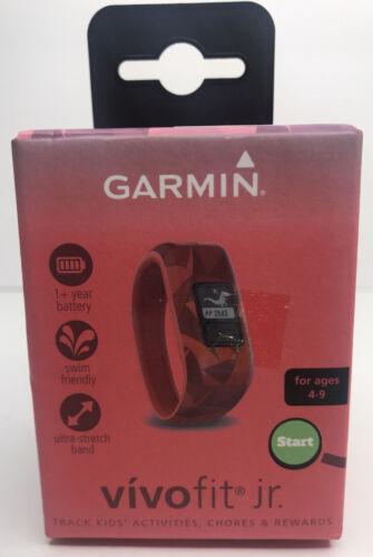 New Garmin vivofit Jr Lava Red  Age 4-9 Kids Activity Chore Tracker
