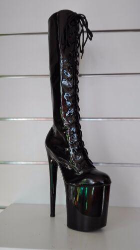 Altezza Totale Sexy Stivali 55cm Sintetica Donna Scarpe Pelle Disco qBwYB0p