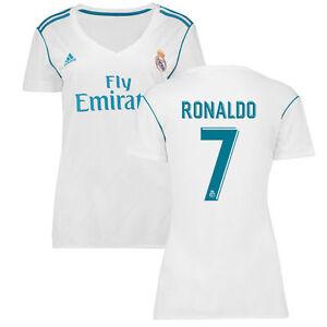 adidas Real Madrid 2017 - 2018 Womens C. Ronaldo   7 CR7 Home Soccer ... 288d5f98fa349