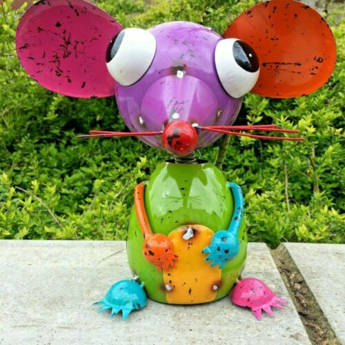 """Mouse Mice Metal Kids Funky /""""Minty Mouse/"""" Indoor Outdoor Garden Ornament"""