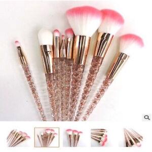 crystal 8pcs unicorn makeup brushes cosmetic tool kit