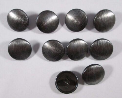 Métal Bouton Boutons 10 morceau de fer brossé 18 mm grand #498#