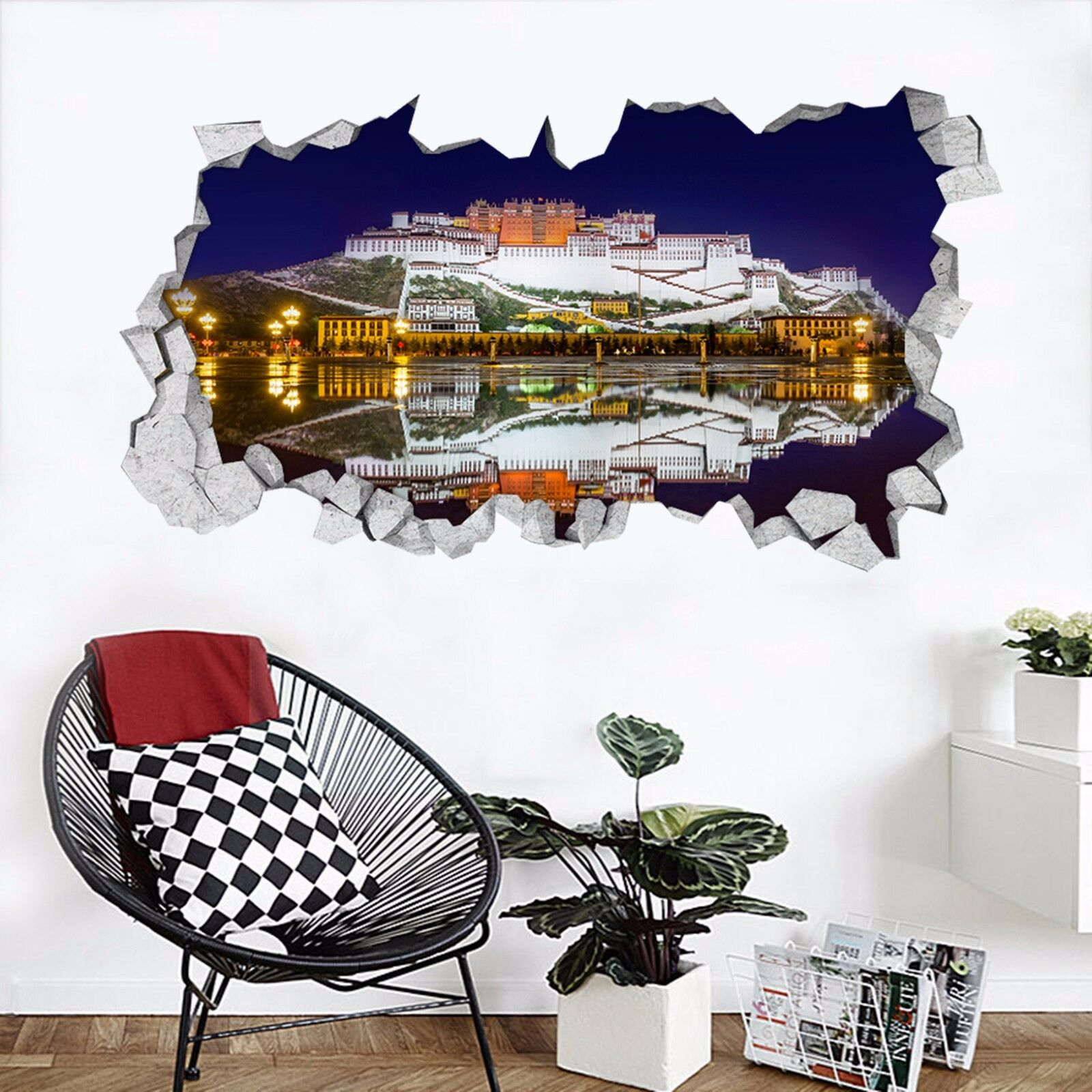 3D Kunst Schloss 74 Mauer Murals Mauer Aufklebe Decal Durchbruch AJ WALLPAPER DE