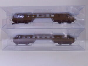 Rivarossi H0 FS Diesel Railcars Aln 556 1st Series Castano Isabella Set HR2748