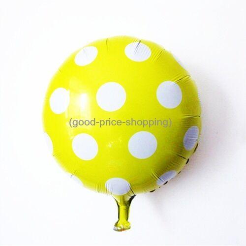 SPOTY POLKA DOT FOIL Balloons LARGE High Quality Birthday Wedding Easter