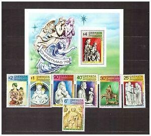 S32393) Grenada Grenadines 1979 MNH Christmas 7v + S/S