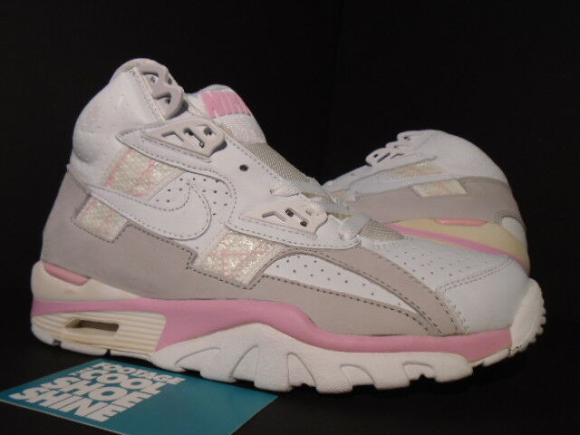 2018 Nike Air Max TRAINER SC HIGH 1 Blanc REAL Rose Gris 302583-111 NEW 5.5 7