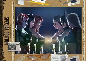 Harley-Quinn-Catwoman-Poison-Ivy-Wonder-Woman-Batgirl-Supergirl-Gotham-A3-Print
