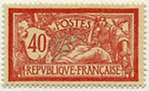 FRANCE-STAMP-TIMBRE-YVERT-N-119-034-MERSON-40-C-ROUGE-ET-BLEU-034-NEUF-xx-TTB