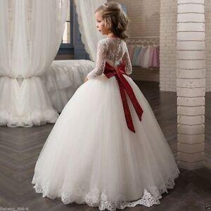 2018 White Flower Girl Dresses Girls Weddings First Communion Pagent
