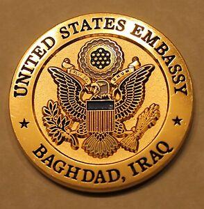 Details about US Embassy Baghdad Iraq USM-I/Embassy Air Transportation  Marine Challenge Coin
