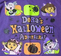 Dora's Halloween Adventure Tee Cat & Lady Bug Costumes + Boots & Pumpkin 3t