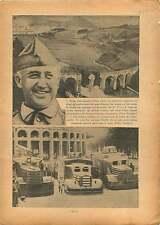 Spanish Civil War Viaduc General Franco / Trucks Spain Espana 1936 ILLUSTRATION