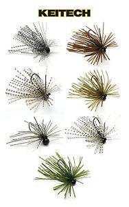 Keitech Tungsten Mono Spin Jig 3//32 Oz Bass Fishing Jig /& Walleye Fishing Lure