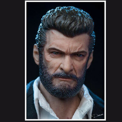 eleven 1//6 wolverine HEADPLAY Logan head sculpt bare teeth Anger The real thing