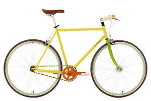 Fixie-Fitnessrad-28-039-039-Fixed-Gear-Herren-Singlespeed-Essence-Gelb-RH-56-cm-302R