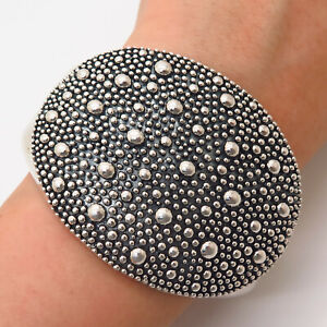 925 Sterling Silver Michael Dawkins Starry Night Curb Link Cuff Bracelet