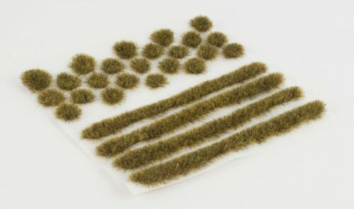 WWS 4mm Patchy Static Grass Modeling Tufts/Strips Mix - Railroad Warhammer 40k