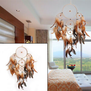 Handmade-Dream-Catcher-With-Feathers-Car-Wall-Hanging-Decoration-Ornament-Gift-Q