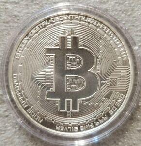 2021 Bitcoin 1 oz .999 fine Solid silver commemorative AOCS  Limited Original
