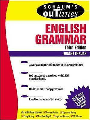 (Good)-Schaum's Outline of English Grammar (Schaum's Outline Series) (Paperback)