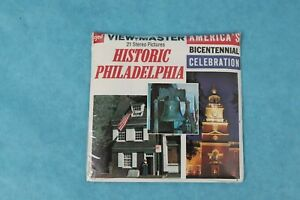 VINTAGE VIEW-MASTER 3D REEL PACKET A 635 HISTORIC PHILADELPHIA SEALED
