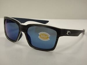 a4c92716ac COSTA DEL MAR PLAYA POLARIZED SUNGLASSES SILVER TEAK BLUE 580P LENS ...