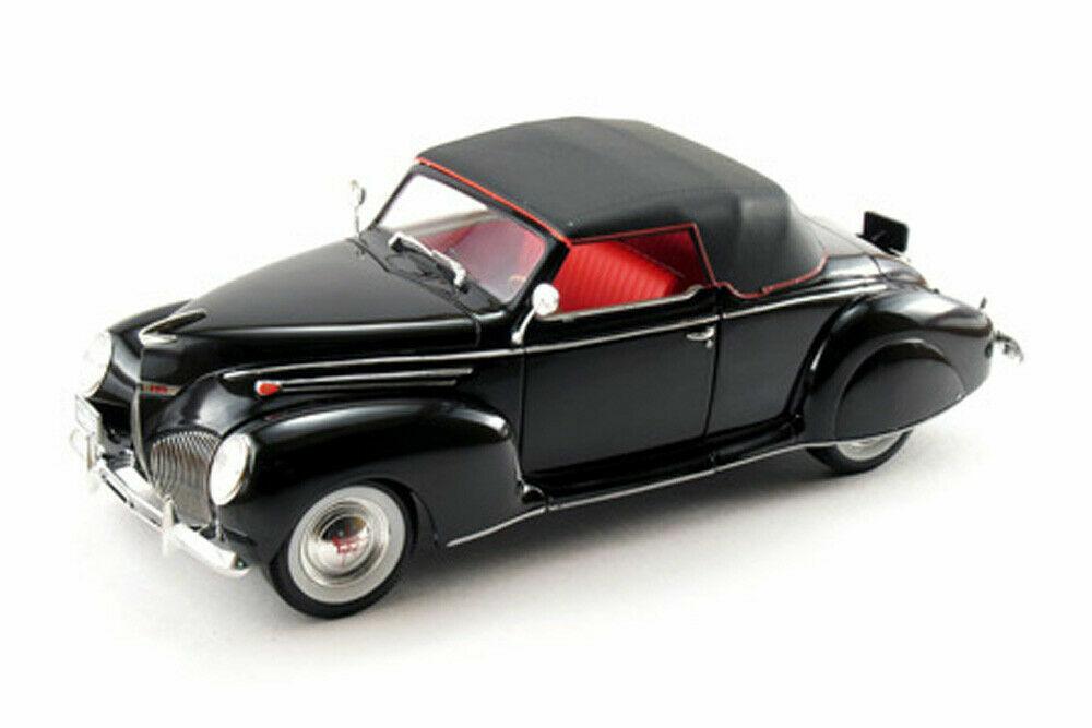 1939 Lincoln Zephyr modelos de firma Negro Diecast Escala 1 18 - Nuevo