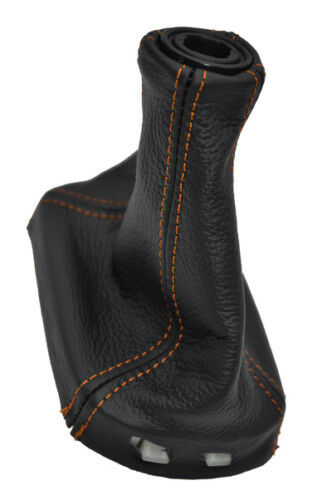 FITS CHEVROLET COBALT LS LT LEATHER SHIFT BOOT orange stitch