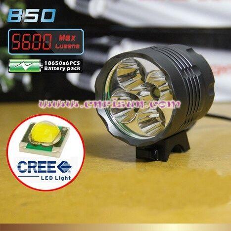 Fanale  faro Hot Selling 5800 Lumen 4 Cree XM-L T6 LED Bicycle super novità