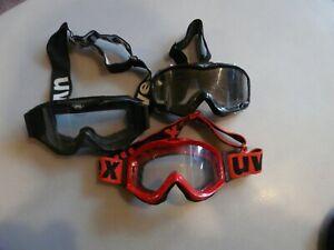 3x-Crossbrille-Skibrille-Uvex-FP-und-Supercross-gebraucht