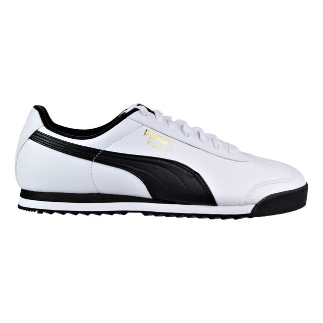 104cdb91d961 PUMA Men s Roma Fashion Sneaker White black Leather Size 10 Shoes ...