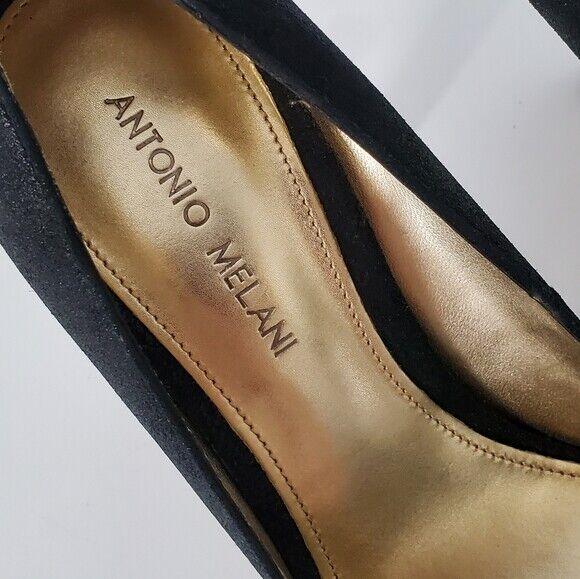 Antonio Melani Women's Size 8.5 Black Leather Stiletto Heels