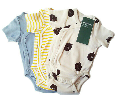 2x LA Body Gr.50 H/&M NEU weiß blau Autos baby set 100/%Baumwolle newborn frühchen
